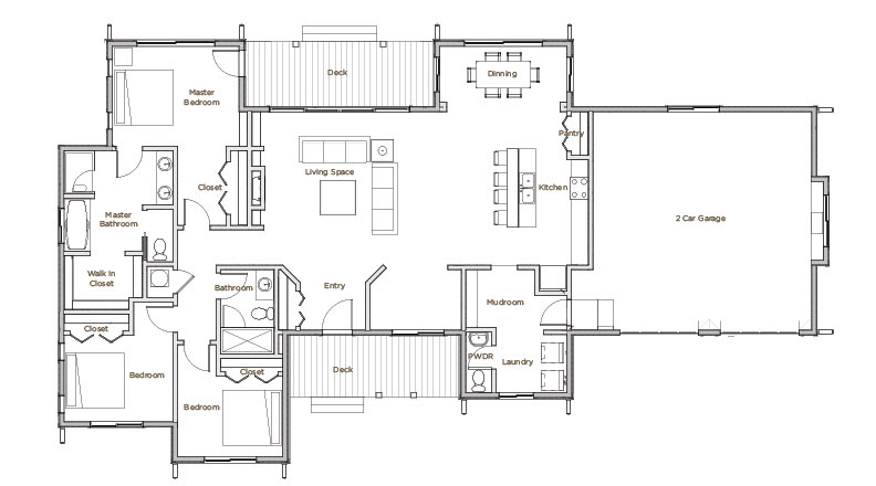 Model-1-Floorplan