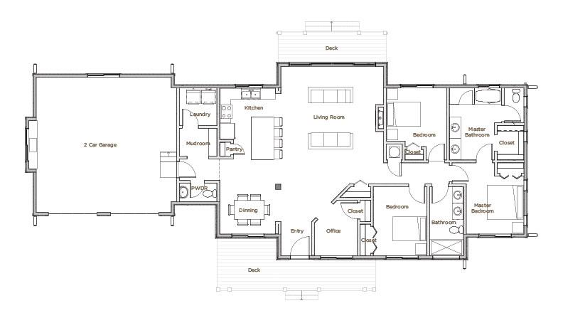 Model-2-floorplan