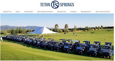 Teton Springs website
