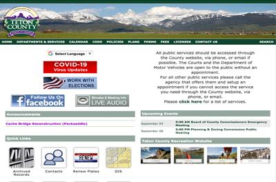 Teton County website